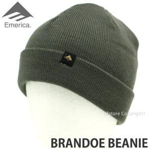 エメリカ ブランド ビーニー Emerica BRANDOE BEANIE スケートボード SKATEBOARD ニット ワッチ 2つ折り 帽子 コーディネート Color:TAN s3store