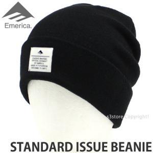 エメリカ スタンダード イシュー ビーニー Emerica STANDARD ISSUE BEANIE スケートボード SKATEBOARD ニット 帽子 コーディネート Col:BLK s3store