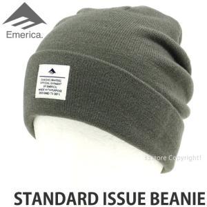 エメリカ スタンダード イシュー ビーニー Emerica STANDARD ISSUE BEANIE スケートボード SKATEBOARD ニット 帽子 コーディネート Col:TAN s3store