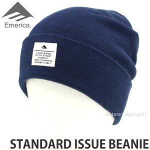 エメリカ スタンダード イシュー ビーニー Emerica STANDARD ISSUE BEANIE スケートボード SKATEBOARD ニット 帽子 コーディネート Col:NVY s3store