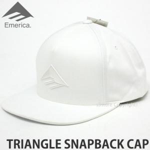 エメリカ トライアングル スナップバック キャップ Emerica TRIANGLE SNAPBACK CAP スケートボード SKATEBOARD 帽子 ロゴ Color:WHITE s3store