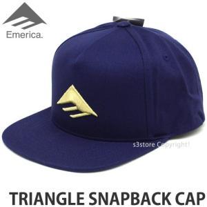 エメリカ トライアングル スナップバック キャップ Emerica TRIANGLE SNAPBACK CAP スケートボード SKATEBOARD 帽子 ロゴ Color:NAVY/GOLD s3store
