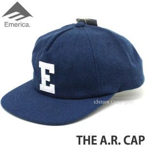 エメリカ エーアール キャップ Emerica THE A.R. CAP スケートボード SKATEBOARD スナップバック 帽子 ロゴ コーディネート Color:NVY/WHT s3store