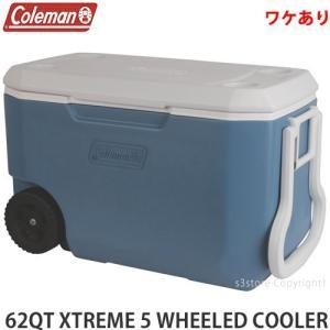 【ワケあり】 コールマン エクストリーム COLEMAN 62QT XTREME5 WHEELED COOLER  訳あり クーラーボックス カラー:BLU/WHT サイズ:約60L|s3store