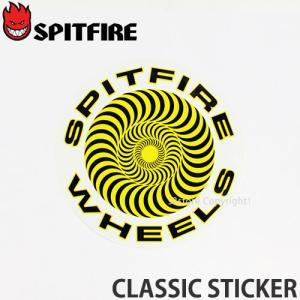 スピットファイヤー クラシック ステッカー SPITFIRE CLASSIC STICKER スケートボード スピットファイア シール ロゴ デッキ Color:Yellow Size:LG|s3store