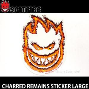 スピットファイヤー チャードリメインズ ステッカー ラージ SPITFIRE CHARRED REMAINS STICKER LARGE スケートボード ロゴ デッキ サイズ:32cm×23cm s3store