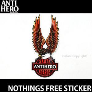 アンタイヒーロー フリー ステッカー ANTIHERO NOTHINGS FREE STICKER スケートボード ストリート スケボー シール サイズ:約15.24×6.35cm|s3store