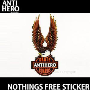 アンタイヒーロー ナッスィング フリー ステッカー ANTIHERO NOTHINGS FREE STICKER スケートボード スケボー パロディ アンチ カラー: サイズ:27cm×12cm|s3store