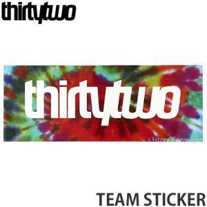 サーティーツー チーム ステッカー THIRTYTWO TEAM STICKER スノーボード スノボー シール カスタム SNOWBOARD カラー:TIE-DYE サイズ:|s3store