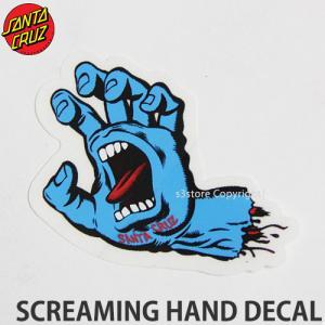 サンタクルーズ スクリーミング ハンド ディケール SANTACRUZ SCREAMING HAND DECAL スケートボード ステッカー ジム・フィリップス サイズ:8cmx6.5cm|s3store