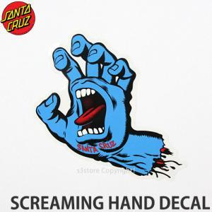 サンタクルーズ スクリーミング ハンド SANTACRUZ SCREAMING HAND DECAL ステッカー skate シール カラー:Blu サイズ:約15.3x10.8cm|s3store