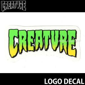 クリーチャー ロゴ ディケール CREATURE LOGO DECAL スケートボード ステッカー ロゴ シンプル チューン ハーコー カラー:Green サイズ:約5cm x 約2.5cm|s3store