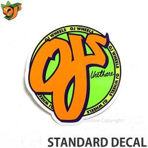 オージェイ スタンダード ディケール OJ STANDARD DECAL スケートボード ステッカー ロゴ シンプル チューン クルーザー オールドスクール 直径 約8.1cm|s3store