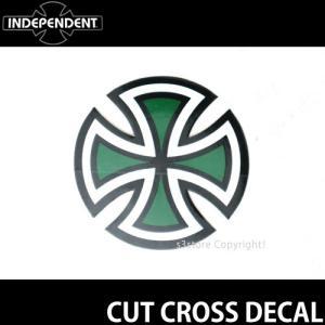インディペンデント ステッカー INDEPENDENT CUT CROSS DECAL スケートボード ロゴ SKATEBOARD STICKER カラー:Green サイズ:直径 約5.0cm|s3store