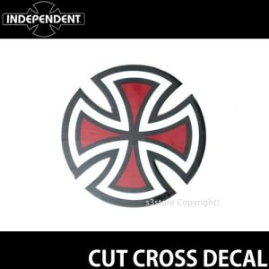 インディペンデント ステッカー INDEPENDENT CUT CROSS DECAL スケートボード ロゴ SKATEBOARD STICKER カラー:Red サイズ:直径 約5.0cm|s3store