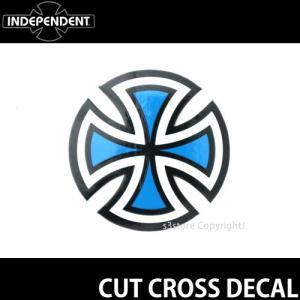 インディペンデント ステッカー INDEPENDENT CUT CROSS DECAL スケートボード ロゴ SKATEBOARD STICKER カラー:Blue サイズ:直径 約5.0cm|s3store