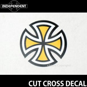 インディペンデント ステッカー INDEPENDENT CUT CROSS DECAL スケートボード ロゴ SKATEBOARD STICKER カラー:Yellow サイズ:直径 約5.0cm|s3store