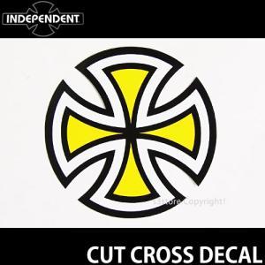 インディペンデント カット クロス ディケール INDEPENDENT CUT CROSS DECAL スケートボード ロゴ ステッカー ジムフィリップス カラー:YELLOW 直径:10.2cm s3store