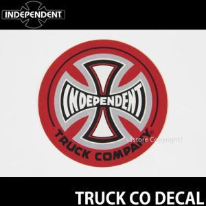 インディペンデント ディケール INDEPENDENT TRUCK CO DECAL スケートボード ロゴ ステッカー SKATEBOARD STICKER 耐水 カラー:Red サイズ:直径 約7.6cm|s3store