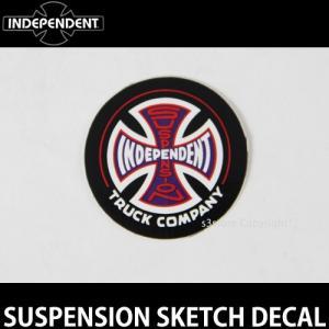インディペンデント サスペンション ディケール INDEPENDENT SUSPENSION SKETCH DECAL スケート ロゴ ステッカー カラー:Black/Red サイズ:直径 約3.8cm|s3store