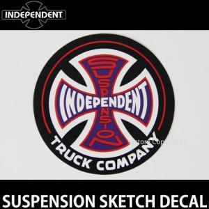 インディペンデント サスペンション ディケール INDEPENDENT SUSPENSION SKETCH DECAL スケート ロゴ ステッカー カラー:Black/Red サイズ:直径 約8.9cm|s3store