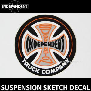インディペンデント サスペンション ディケール INDEPENDENT SUSPENSION SKETCH DECAL スケート ロゴ ステッカー カラー:Black/Orange サイズ:直径 約8.9cm|s3store