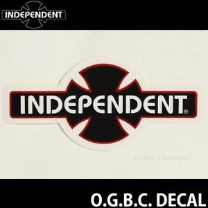 インディペンデント O.G.B.C. ディケール INDEPENDENT O.G.B.C. DECAL スケートボード ロゴ ステッカー SKATE STICKER カラー:Black サイズ:10.2cm x 5.0cm|s3store