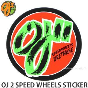 オージェイ スピー ドホイール ステッカー OJ OJ 2 SPEED WHEELS STICKER スケートボード スケボー シール カスタム Size:直径約7.6cm|s3store