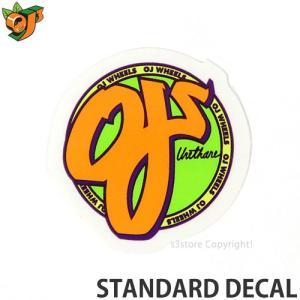 オージェイ スタンダード ディケール OJ III STANDARD DECAL スケートボード ステッカー ロゴ シンプル クルーザー SK8 カラー:Orange サイズ:直径 約3.8cm|s3store