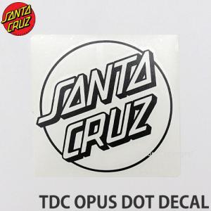サンタクルーズ オーパス ドット SANTACRUZ TDC OPUS DOT DECAL ステッカー スケート surf シール カラー:Blk サイズ:約15.2 x 14.6cm|s3store