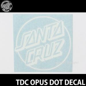 サンタクルーズ オーパス ドット SANTACRUZ TDC OPUS DOT DECAL ステッカー スケート surf シール カラー:Wht サイズ:約15.2 x 14.6cm s3store