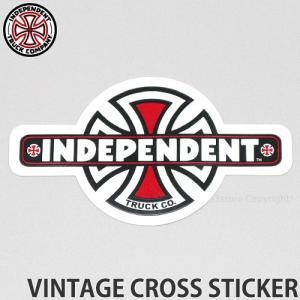 インディペンデント ビンテージ クロス ステッカー INDEPENDENT VINTAGE CROSS STICKER スケートボード ロゴ シール SKATE サイズ:10.8x6.0|s3store