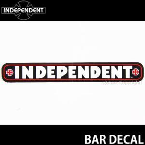 インディペンデント バー ディケール INDEPENDENT BAR DECAL スケートボード ロゴ ステッカー ジムフィリップス カラー:BLACK サイズ:約10.2cmx1.4cm|s3store