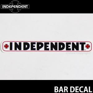 インディペンデント バー ディケール INDEPENDENT BAR DECAL スケートボード ロゴ ステッカー ジムフィリップス カラー:WHITE サイズ:約10.2cmx1.4cm|s3store