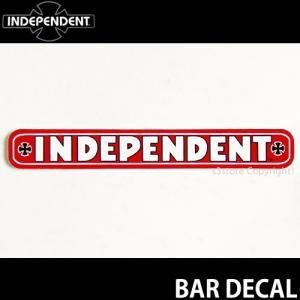 インディペンデント バー ディケール INDEPENDENT BAR DECAL スケートボード ロゴ ステッカー ジムフィリップス カラー:RED サイズ:約10.2cmx1.4cm|s3store