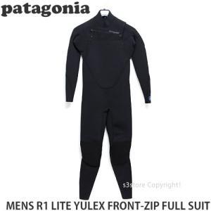 パタゴニア メンズ R1 ライト ユーレックス フロントジップ フルスーツ 【Patagonia R1 LITE YULEX FRONT-ZIP FULL SUIT】 サーフィン ウェット カラー:Black|s3store