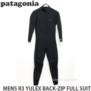 パタゴニア メンズ R3 ユーレックス バッグジップ フルスーツ 【Patagonia MENS R3 YULEX BACK-ZIP FULL SUIT】 サーフィン ウェットスーツ SURF カラー:Black|s3store