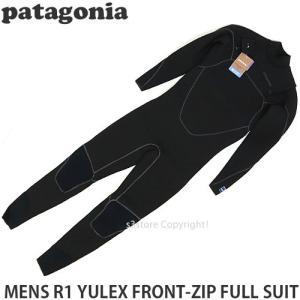 パタゴニア メンズ フロントジップ フルスーツ Patagonia MENS R1 YULEX FRONT-ZIP FULL SUIT サーフィン ウェットスーツ カラー:Black|s3store