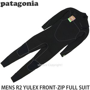 パタゴニア メンズ フロントジップ フルスーツ Patagonia MENS R2 YULEX FRONT-ZIP FULL SUIT サーフィン ウェットスーツ カラー:Black|s3store