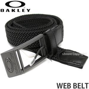 オークリー ウェブ ベルト 【OAKLEY WEB BELT】 ウェビング ガチャベル メタルバックル アウトドア スポーツ 通勤 通学 カラー:Jet Black|s3store