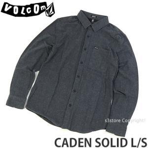 ボルコム カデン ソリッド ロング スリーブ VOLCOM CADEN SOLID L/S メンズ アパレル 長袖 トップス ストリート カラー:ASPHALT BLACK|s3store