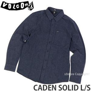ボルコム カデン ソリッド ロング スリーブ VOLCOM CADEN SOLID L/S メンズ アパレル 長袖 トップス ストリート カラー:MIDNIGHT BLUE|s3store