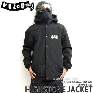 18model ボルコム ハイストーン ジャケット ウエア VOLCOM HIGHSTONE JACKET スノーボード 防水 撥水 メンズ SNOWBOARD WEAR Color:BLK|s3store
