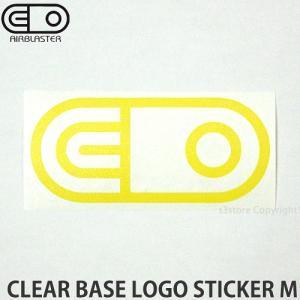 エアブラスター クリアベース ロゴ ステッカー AIRBLASTER CLEAR BASE LOGO STICKER M スノーボード SNOWBOARD Col:Yellow Size:5cmx10.8cm|s3store
