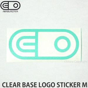 エアブラスター クリアベース ロゴ ステッカー AIRBLASTER CLEAR BASE LOGO STICKER M スノボ SNOWBOARD Col:Turquoise Size:5cmx10.8cm|s3store