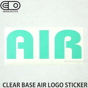 エアブラスター クリアベース エアー ロゴ ステッカー AIRBLASTER CLEAR BASE AIR LOGO STICKER スノボ SNOWBOARD Col:Trq Size:5cmx10.8cm|s3store