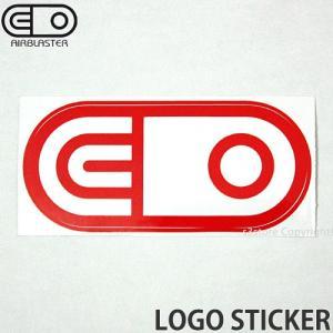 エアブラスター ロゴ ステッカー AIRBLASTER LOGO STICKER スノーボード スノボ シール SNOWBOARD Color:Red Size:6.3cmx13.3cm|s3store