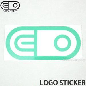 エアブラスター ロゴ ステッカー AIRBLASTER LOGO STICKER スノーボード スノボ シール SNOWBOARD Color:Turquoise Size:6.3cmx13.3cm|s3store