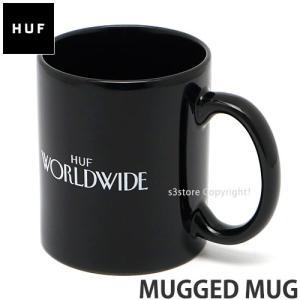 ハフ マッグド マグ HUF MUGGED MUG スケートボード スケボー コップ カップ グラス キッチン グッズ インテリア カラー:BLACK サイズ:OS|s3store