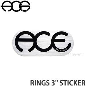 エース リングス ステッカー ACE RINGS 3 STICKER シール カスタム チューン SKATE スケートボード スケボー トラック カラー:Silver/Black|s3store
